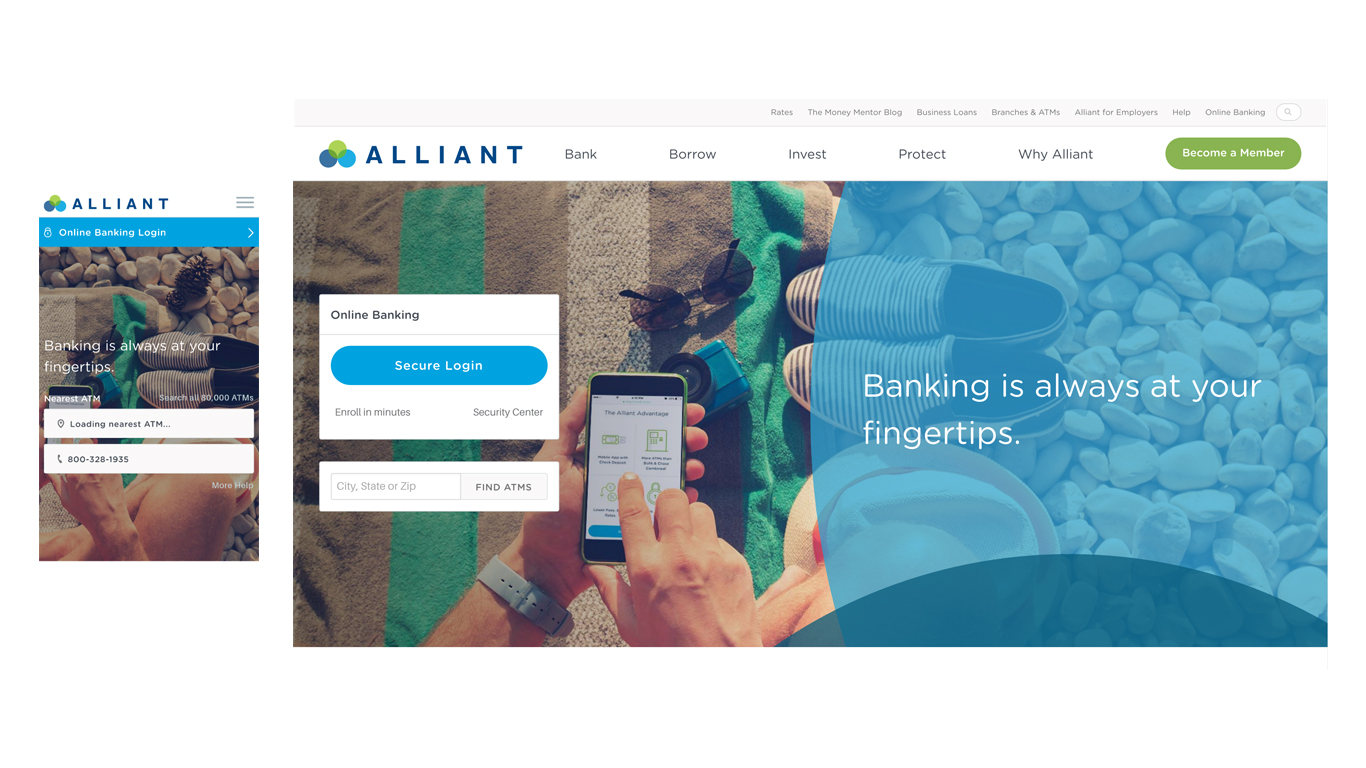 Alliant Credit Union Homepage