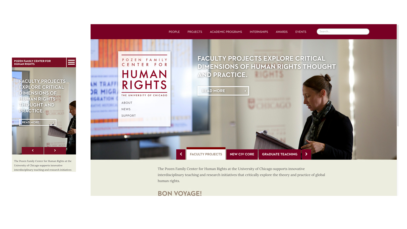 Pozen Family Center for Human Rights homepage
